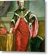 Emperor Francis I 1708-65 Holy Roman Emperor, Wearing The Official Robes Of The Order Of St. Stephan Metal Print
