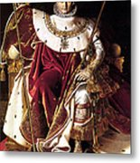 Emperor Napoleon I On His Imperial Throne Metal Print