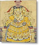 Emperor Qianlong In Old Age Metal Print