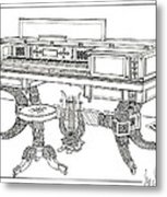 Empire Period Piano 1820 Metal Print