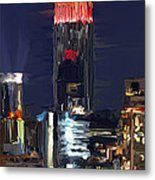 Empire State Buidling On The Water Metal Print