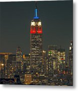 Empire State Building 911 Tribute Metal Print