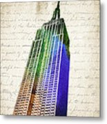 Empire State Building Metal Print by Aged Pixel