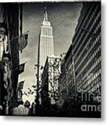 Empire State Building And Macys In New York City Metal Print