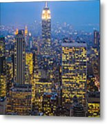 Empire State Building And Midtown Manhattan Metal Print