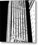 Empire State Building In Constrasting White Metal Print