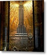Empire State Building - Magnificent Lobby Metal Print