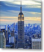 Empire State Building New York City Usa Metal Print