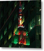 Empire State Building Reflection Metal Print