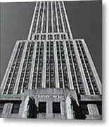 Empire State Building Rising II Metal Print