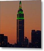 Empire State Building Saint Patricks Day Lighting I Metal Print