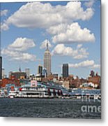 Empire State From The Water Metal Print