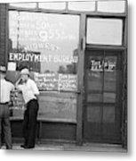 Employment Bureau, 1937 Metal Print