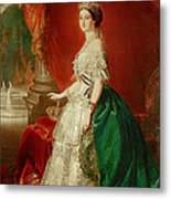 Empress Eugenie Of France 1826-1920 Wife Of Napoleon Bonaparte IIi 1808-73 Oil On Canvas Metal Print