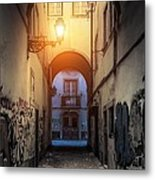 Empty Alley Metal Print