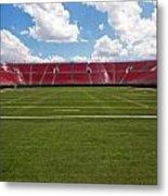 Empty American Football Stadium Metal Print