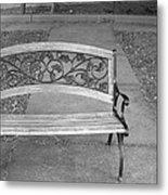 Empty Bench Metal Print by Stephanie Grooms