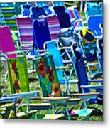 Empty Chairs Metal Print