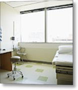 Empty medical exam room Metal Print