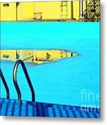 Empty Public Swimming Pool Bronx New York City Metal Print