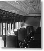 Empty Railway Coach Metal Print