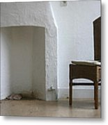 Empty Room With Two Chairs Metal Print