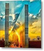 Empty Skies Sunset Metal Print by Nick Zelinsky