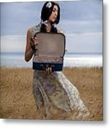 Empty Suitcase Metal Print