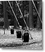 Empty Swings Metal Print