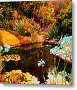 Enchaned Blue Lily Pond Metal Print