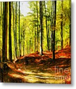 Enchanted Forest - Drawing  Metal Print