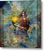 Angel Tarot Card Enchanted Princess Metal Print