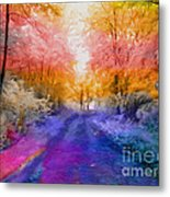 Enchanted Rainbow Forest  Metal Print