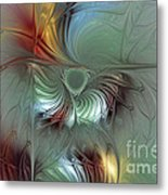 Enchanting Flower Bloom-abstract Fractal Art Metal Print by Karin Kuhlmann