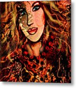 Enchanting Woman Metal Print