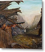 Encounter At Grizzly Pass Metal Print