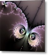 Encounter - Digital Fractal Artwork Metal Print