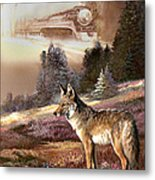 Encounter With The Iron Hors  Metal Print