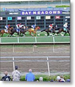 End Of An Era At Bay Meadows With Their Last Horse Race Metal Print