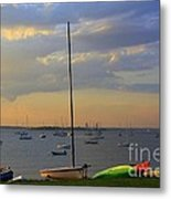 End Of Day At The Bay Metal Print