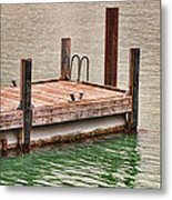 End Of Small Pier Metal Print
