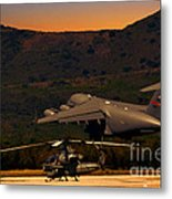 End Of The Day Departure Metal Print