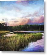 End Of The Day - Landscape Art Metal Print