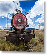 End Of The Line - Steam Locomotive Metal Print