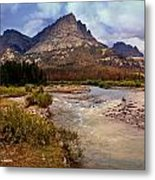 End Of The Road Mountain Metal Print