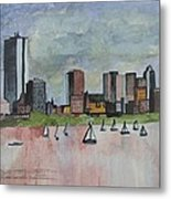 End Of The Workday Metal Print by Sue Melanson