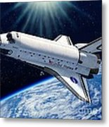 Endeavour In Space Metal Print