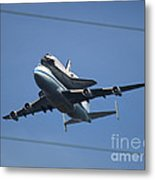 Endeavour Over Moffett Field Metal Print