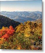 Endless Autumn Mountains Metal Print