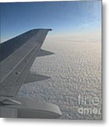Endless Cotton Cloud Under The Wing Metal Print